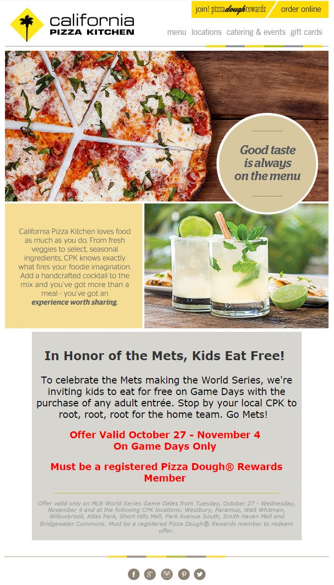 CPK Mets Email